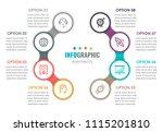 vector infographic label design ...   Shutterstock .eps vector #1115201810