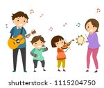 illustration of stickman family ... | Shutterstock .eps vector #1115204750