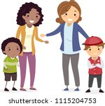 illustration of stickman mom... | Shutterstock .eps vector #1115204753