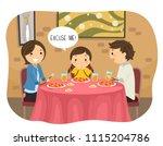 illustration of stickman kid... | Shutterstock .eps vector #1115204786