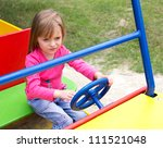 cute smiling little girl... | Shutterstock . vector #111521048