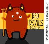 Red Devils Belgium Cartoon...