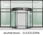 the semicircular double... | Shutterstock .eps vector #1115213396