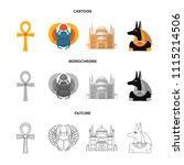 anubis  ankh  cairo citadel ... | Shutterstock .eps vector #1115214506