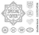 different label outline icons... | Shutterstock .eps vector #1115214536