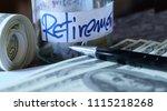 money coins in glass bottles ... | Shutterstock . vector #1115218268
