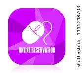 online reservation violet... | Shutterstock .eps vector #1115218703