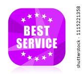 best service violet square...   Shutterstock .eps vector #1115221358