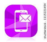 mail violet square vector web...   Shutterstock .eps vector #1115221454