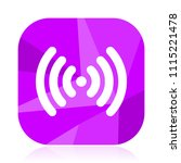 wifi violet square vector web...   Shutterstock .eps vector #1115221478