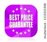 best price guarantee violet...   Shutterstock .eps vector #1115221508