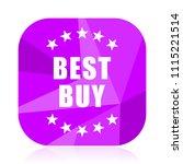 best buy violet square vector...   Shutterstock .eps vector #1115221514