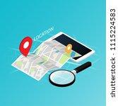 maps   navigation location... | Shutterstock .eps vector #1115224583