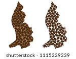 liechtenstein    map of coffee... | Shutterstock .eps vector #1115229239