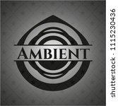 ambient dark badge | Shutterstock .eps vector #1115230436