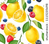 seamless pattern with lemons | Shutterstock .eps vector #1115235698