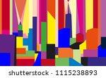 colorful abstract cityscape of... | Shutterstock .eps vector #1115238893