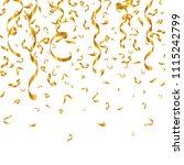 gold glitter confetti and... | Shutterstock .eps vector #1115242799