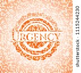 urgency abstract orange mosaic... | Shutterstock .eps vector #1115244230