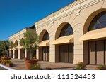 a new office building along a... | Shutterstock . vector #111524453
