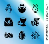 vector icon set about easter...   Shutterstock .eps vector #1115244674