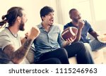 friends cheering sport league... | Shutterstock . vector #1115246963
