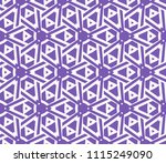 seamless pattern with symmetric ... | Shutterstock .eps vector #1115249090