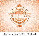 question abstract orange mosaic ... | Shutterstock .eps vector #1115253023