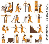 working people in construction... | Shutterstock .eps vector #1115254643