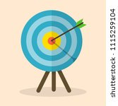 vector image of the arrow is... | Shutterstock .eps vector #1115259104