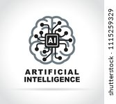 illustration of artificial... | Shutterstock .eps vector #1115259329