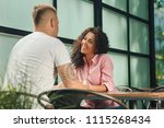 close up on a man and a woman... | Shutterstock . vector #1115268434
