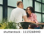 close up on a man and a woman... | Shutterstock . vector #1115268440