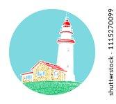 lighthouse  beacon  pharos in... | Shutterstock .eps vector #1115270099