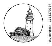 lighthouse  beacon  pharos in... | Shutterstock .eps vector #1115270399
