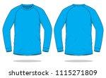 cyan long sleeve t shirt   ... | Shutterstock .eps vector #1115271809