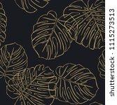 golden leaves of a plant...   Shutterstock .eps vector #1115273513