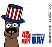 independence day in usa.... | Shutterstock .eps vector #1115274200