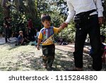 refugees and migrants in a...   Shutterstock . vector #1115284880