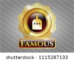 gold emblem or badge with... | Shutterstock .eps vector #1115287133