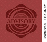 advisory red emblem. vintage. | Shutterstock .eps vector #1115287424