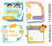 back to school stickers. design ... | Shutterstock .eps vector #1115288300