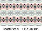 ikat geometric folklore... | Shutterstock .eps vector #1115289104
