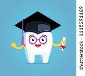 happy cartoon wisdom tooth... | Shutterstock .eps vector #1115291189