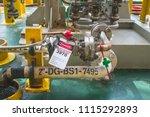 gas process valve isolation... | Shutterstock . vector #1115292893