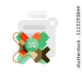 flat design cross shape...   Shutterstock .eps vector #1115293844