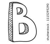vector doodle sketch... | Shutterstock .eps vector #1115295290