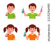 comparing upset boy   girl... | Shutterstock .eps vector #1115296490