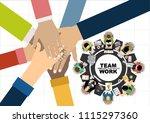 flat design illustration... | Shutterstock .eps vector #1115297360