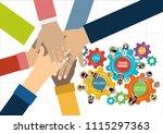 flat design illustration... | Shutterstock .eps vector #1115297363